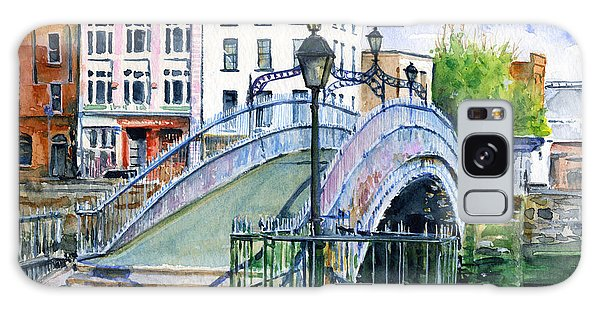 Ha'penny Bridge Dublin Galaxy Case by John D Benson
