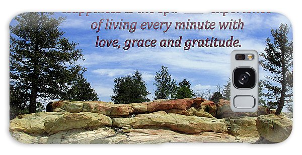 Happiness Is Living Every Minute With Gratitude Galaxy Case