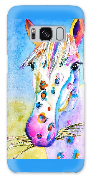 Watercolor Pet Portraits Galaxy Case - Happy Appy by Carlin Blahnik CarlinArtWatercolor