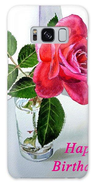 Happy Birthday Card Rose  Galaxy Case