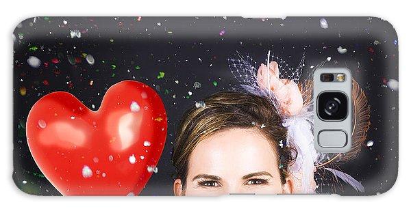 Vivacious Galaxy Case - Happy Bride In Confetti During Wedding Celebration by Jorgo Photography - Wall Art Gallery