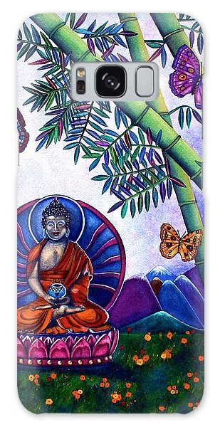 Happy Buddha And Prosperity Bamboo Galaxy Case by Lori Miller