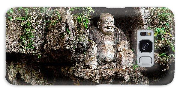 Happy Buddha Galaxy Case by Harry Spitz