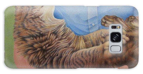 Happy Cat Galaxy Case by Pamela Clements