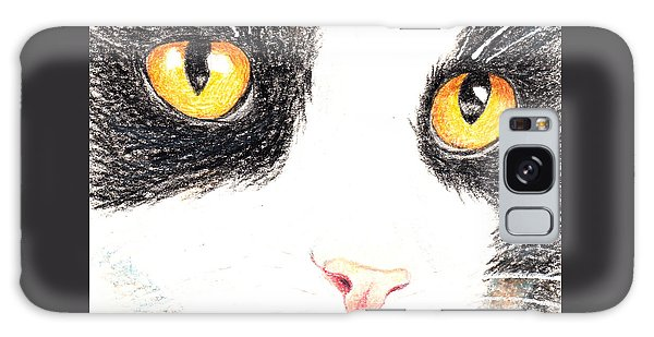 Happy Cat With The Golden Eyes Galaxy Case