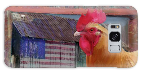 Happy Chicken  Galaxy Case by Julianne Ososke
