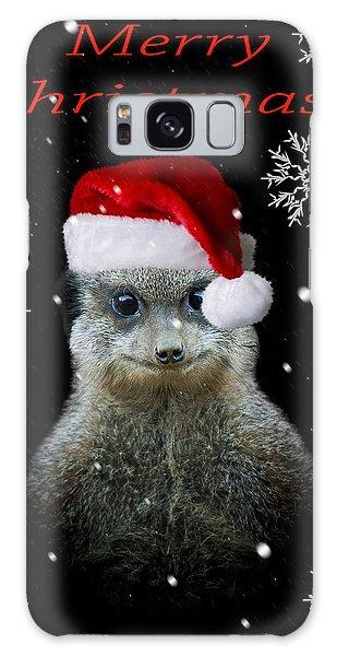 Meerkat Galaxy S8 Case - Happy Christmas by Paul Neville