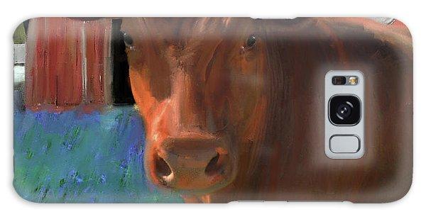 Happy Cow West Marin  Galaxy Case by Julianne Ososke