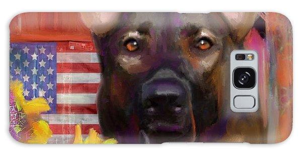 Happy Dog Galaxy Case by Julianne Ososke