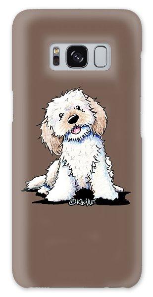 Happy Doodle Puppy Galaxy Case
