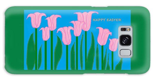 Happy Easter 1 Galaxy Case by Linda Velasquez