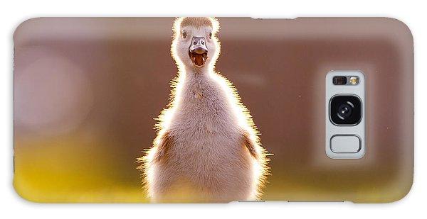 Gosling Galaxy Case - Happy Easter - Cute Baby Gosling by Roeselien Raimond