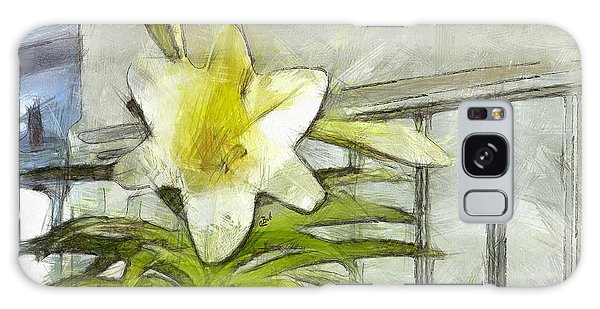Galaxy Case featuring the photograph Happy Easter Lily by Claire Bull