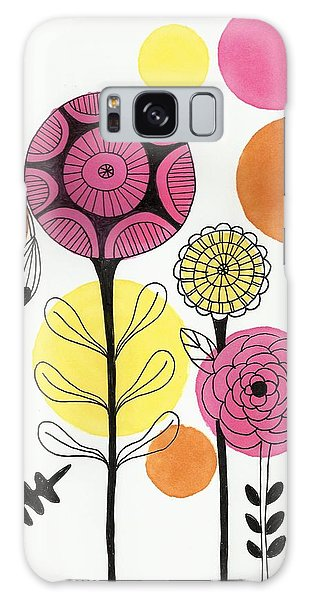 Happy Flowers Galaxy Case by Lisa Noneman
