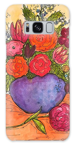 Happy Flowers Galaxy Case by Rae Chichilnitsky