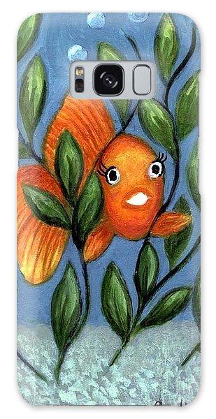 Happy Goldfish Galaxy Case by Sandra Estes