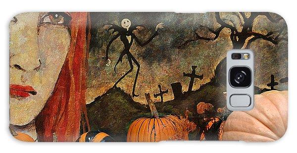 Happy Halloween Galaxy Case by Jeff Burgess