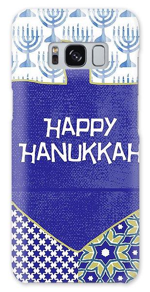 Holiday Galaxy Case - Happy Hanukkah Dreidel 1- Art By Linda Woods by Linda Woods