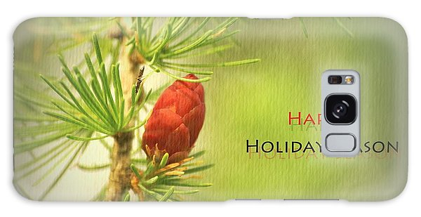 Happy Holiday Season Card Galaxy Case by Aimelle