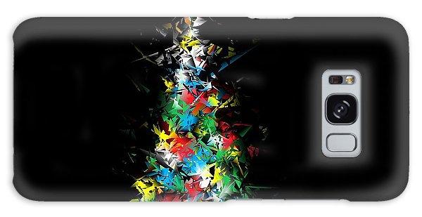 Happy Holidays - Abstract Tree - Horizontal Galaxy Case