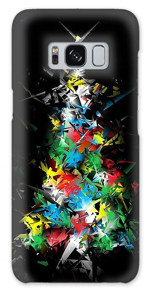 Happy Holidays - Abstract Tree - Vertical Galaxy Case