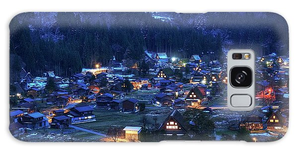 Galaxy Case featuring the photograph Happy Holidays From Japan by Peter Thoeny