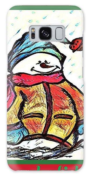 Happy Holidays Snowman Galaxy Case