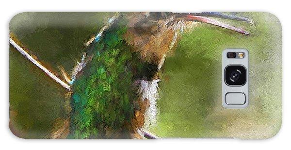 Happy Hummingbird Galaxy Case