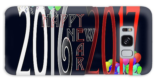 Happy New Year Card With Baloons Galaxy Case