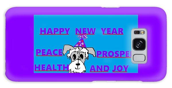 Happy New Year Galaxy Case by Linda Velasquez