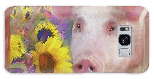 Happy Pig  Galaxy Case by Julianne Ososke