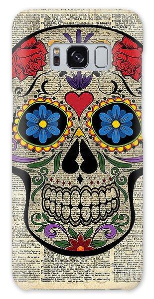Happy Skull,sugar Skull,dia De Los Muertos,halloween Artwork Galaxy Case