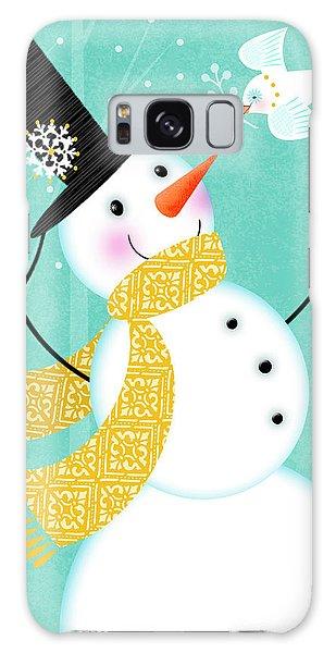 Happy Snowman Galaxy Case
