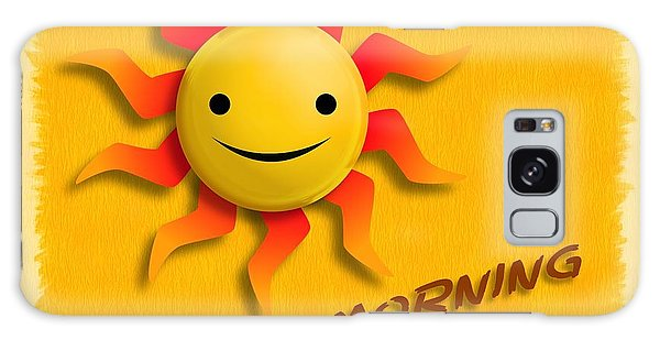 Happy Sun Face Galaxy Case
