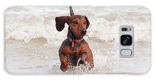 Happy Surf Dog Galaxy Case by Kenneth Albin