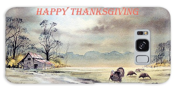Happy Thanksgiving  Galaxy Case by Bill Holkham
