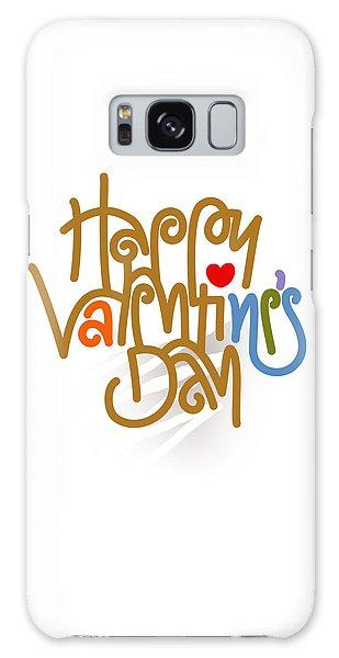 Happy Valentine's Day Poster Galaxy Case