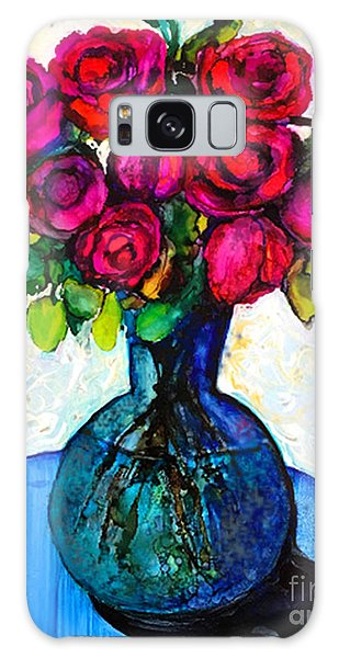 Galaxy Case featuring the painting Happy Valentine's Day by Priti Lathia