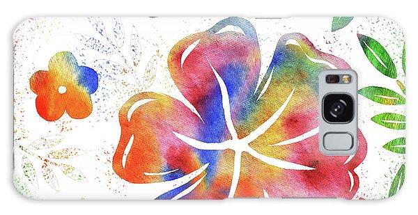 Hibiscus Galaxy Case - Happy Watercolor Flowers by Irina Sztukowski