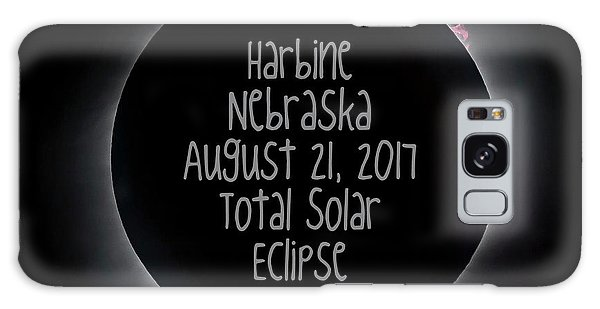Harbine Nebraska Total Solar Eclipse August 21 2017 Galaxy Case