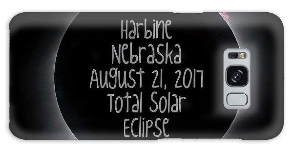Harbine Nebraska Total Solar Eclipse August 21 2017 Galaxy Case