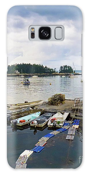 Harbor At Georgetown Five Islands, Georgetown, Maine #60550 Galaxy Case