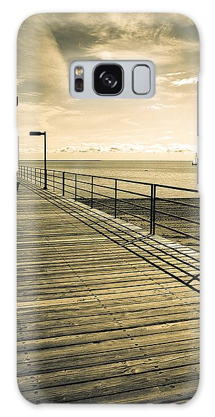 Harbor Beach Michigan Boardwalk Galaxy Case