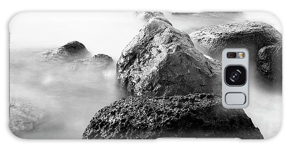 Harbor Rocks And Misty Ocean II Galaxy Case