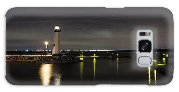 Harbor Rockwall Lighthouse Galaxy Case