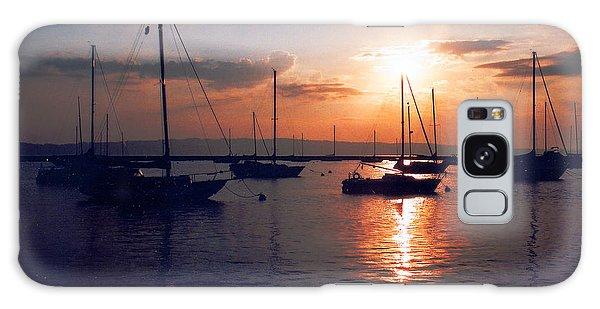 Harbor Sunrise Galaxy Case
