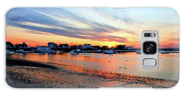 Harbor Sunset At Low Tide Galaxy Case
