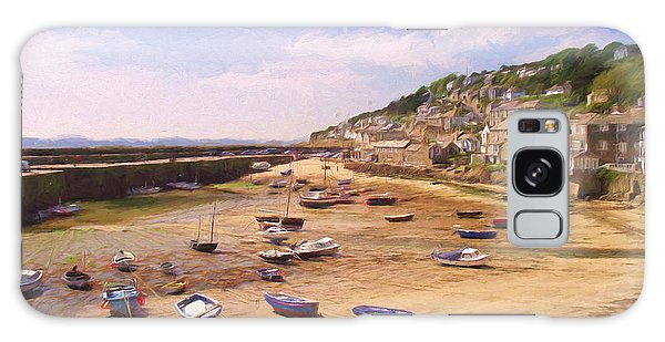 Harbour At Low Tide - Mousehole Galaxy Case