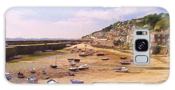 Harbour At Low Tide - Mousehole Galaxy Case by Jayne Wilson