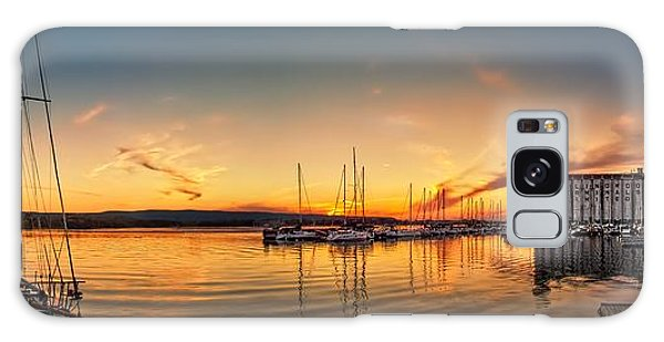 Harbour At Sunset Galaxy Case